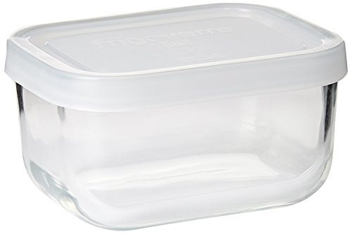 Bormioli Rocco Frigoverre Rectangular Food Container with Frosted Lid, 5-Ounce