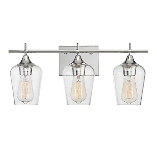 Savoy House 8-4030-3-11, Octave 3-Light Bath Bar, Polished Chrome