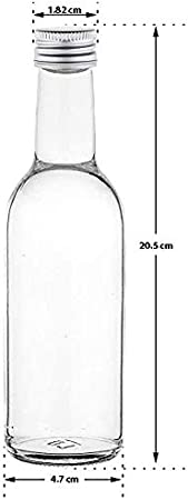 casavetro Claro Tornillo Superior Botellas de Vidrio vacías 250 ml - Tapas giratorias Recargables Reutilizables - Tapa de Metal Ajustada al Aire para Kombucha Home Brewing Gin Aceite (30 x 250 ml)