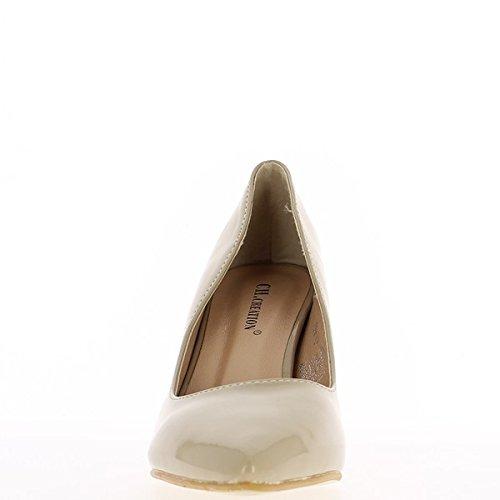 Scarpe dipinte tacco 8cm donna nera