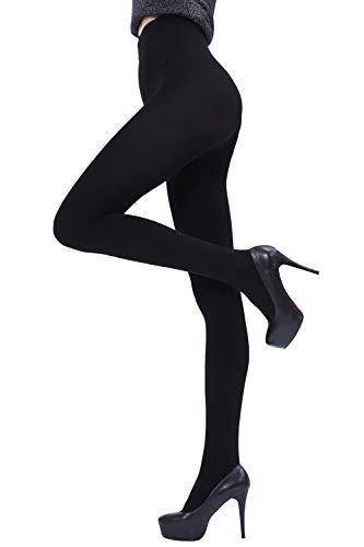 Footed Leggings - Ueenie Women's Leggings Footed Tights Opaque Black Warm Fleece Lining Pantyhose