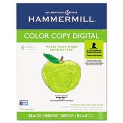 Hammermill 102467 Copy Paper, 100 Brightness, 28lb, 8 1/2 x 11, Photo White, 500/Ream