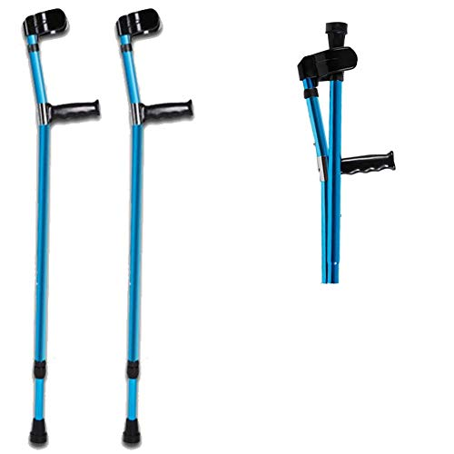 ZHOUHUAW Folding Aluminum Walking Forearm Crutches, Turning Arm Cuffs and Crutches Support Legs After Injury or Surgery,2pcs