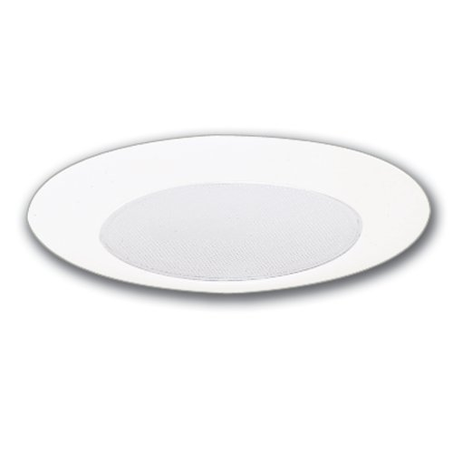 Halo Recessed 270PS 6-Inch Showerlight Trim with Frosted Albalite Lens and Reflector, (Halo Glass Ceiling Fan)