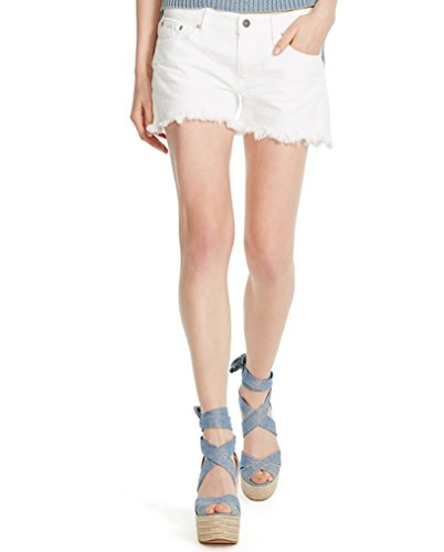 outlet Polo Ralph Lauren Women\u0027s Corrine White Denim Fringed Crosby Shorts  31