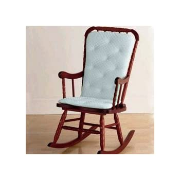 Superb Heavenly Soft Adult Rocking Chair Cushion  Color: Blue