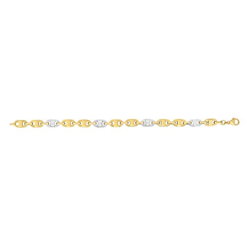 14k Yellow Gold 8.5 Inch Polish Finish Fancy Bracelet Lobster-clasp by Diamond Sphere