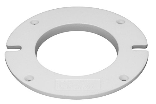 (Oatey 43646 Closet Flange Spacer, 1/2 In T, Pvc, White)