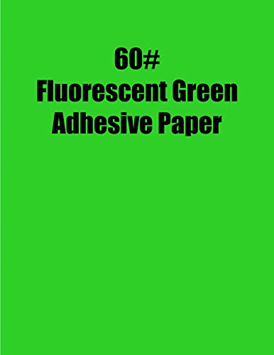 Spinnaker Coating Fluorescent Green 60# Adhesive Paper, Strip-Tac Plus, Permanent, 8.5 x 11, 1,000 Sheets per Carton ()