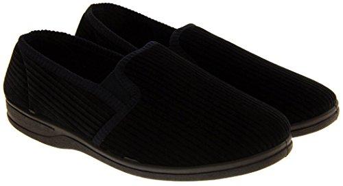 Footwear Studio Escudete Elástico Confort Pantuflas Hombre Marino Azul rrwxqvF