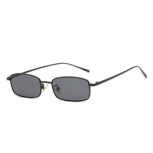 Personalidad lente de pequeñas metal GAOLIXIA vintage marinas de Gafas Gafas los roja Marco sol de sol de cuadradas de Black de sol Gafas hombres wqBIRH