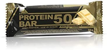 PEAK Protein Bar 50 White Chocolate Vanilla 12x50g