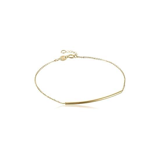 FCZDQ 18K Gold Plated Twisted Set of 4 Charm Bangle Bracelets