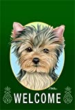 Yorkie Puppy Cut – Tomoyo Pitcher Welcome Pineapples Large Flag Review