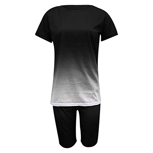 Summer Clothes for Women Two Piece Outfits Sexy Casual Short Sleeve Crop Tops+Pants Short Sets Tracksuits