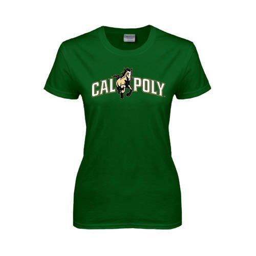 Cal Poly Ladies Dark Green T Shirt  Calpoly w  Mustang  7312e831be8c7