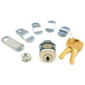 Hudson Lock PTR-656UN-0000 Universal Mailbox Lock, Keyed Different (Pack of 12)