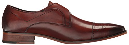 Stacy Adams Mens Kimball-cap Teen Monniksband Slip-on Loafer Kastanje