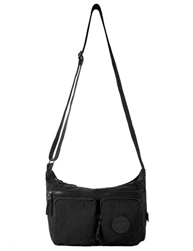 955 Crossbody Black Purse Mini Bag Shoulder Travel Black Nylon 955 p8P8w4qgS