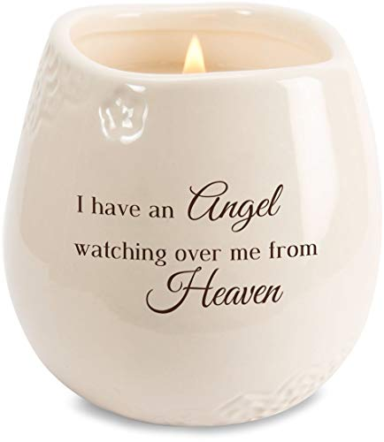 Pavilion - I Have an Angel Watching Over Me from Heaven 8 oz Soy Filled Ceramic Vessel Candle -