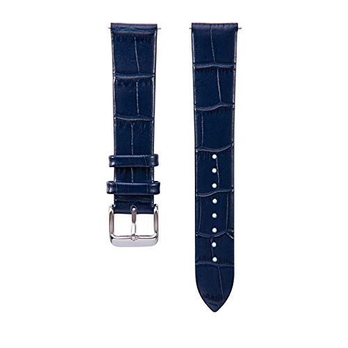 TenCloud Replacement Croc Embossed Leather Band Quick Release for Fossil Q Women's Gen 3 Venture Smartwatch (Night Blue)