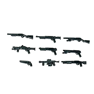 Custom 12 Gauge Shotgun Pack (P13) Designed for Brick Minifigures: Toys & Games