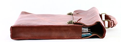 PAUL MARIUS pelle morbida valigetta ventiquattrore marrone LE LUNDI