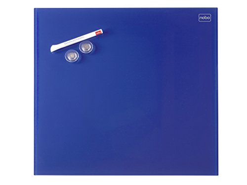Nobo Diamond 450 X 450 Mm Magnetic Glass Board - Blue by BagCenter