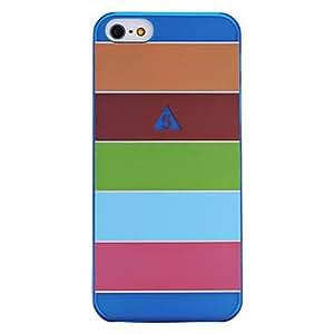 CL - Cinco coloridos rayas de la caja dura plástica para el iphone 5/5s