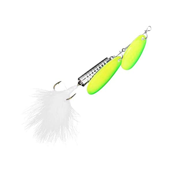 FOLOSAFENAR Stainless steel Double Spinner Fishing Lures
