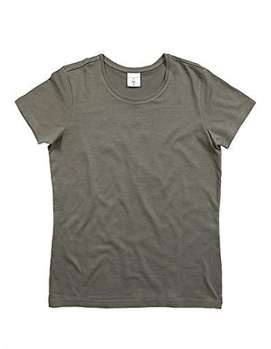 Classique Rond Pour shirt T Courtes Et 2store24 Femmes Grey Manches Col Real qCZEgWnw