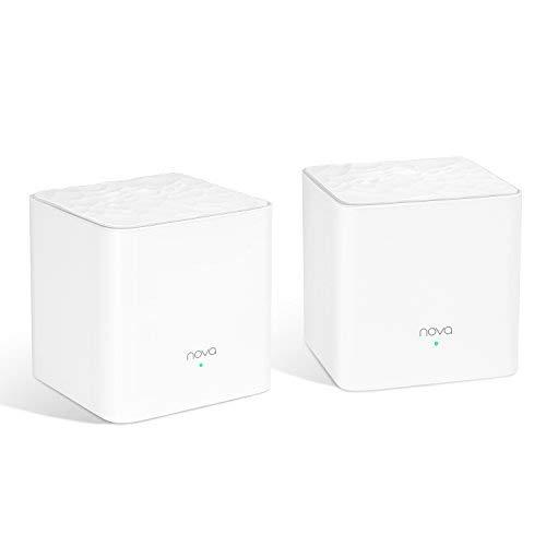 Bundle - 3 items: NOVA MW3 2-Pack, Mesh Wi-Fi System (x2,) with a Tenda S105, 5-Port Fast Ethernet Splitter