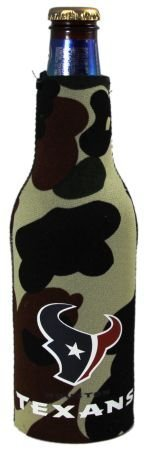 Camo Bottle Suit - HOUSTON TEXANS CAMO BOTTLE SUIT KOOZIE COOZIE COOLER
