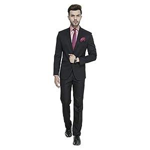 MANQ Men's Slim Fit Party/Formal Suit (Pack of 2)