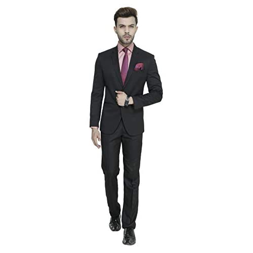 31GhiCBJUsL. SS500  - MANQ Men's Slim Fit Party/Formal Suit (Pack of 2)
