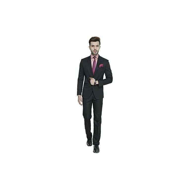 31GhiCBJUsL. SS768  - MANQ Men's Slim Fit Party/Formal Suit (Pack of 2)