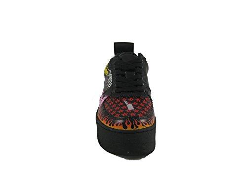 Nera mixture Sneaker Wolfe Fantasia Zeppa Naked 41 Pelle Nr BYIpfBq