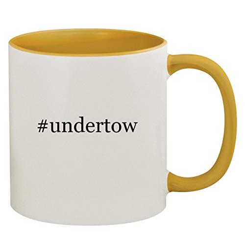 #undertow - 11oz Hashtag Ceramic Colored Inside & Handle Coffee Mug, Golden Yellow