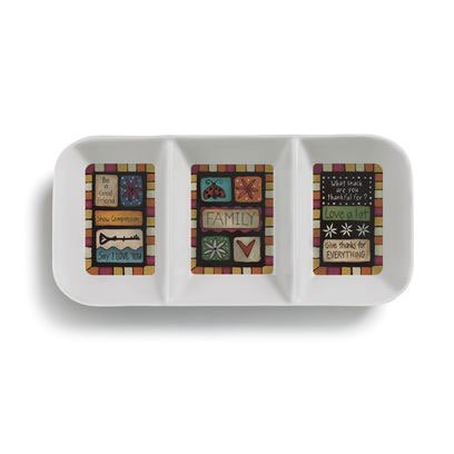 (Table Talk Family Values Melamine Divided Serving Tray, 3 Sections)