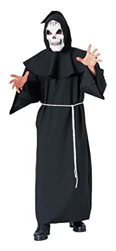 Forum Novelties Men's Super Deluxe Adult Costume Horror Robe, Black, One Size (Skeleton Zombie Adult Plus Costumes)
