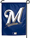 "MLB Milwaukee Brewers Current Logo Garden Flag, 11""x15"", Team Color"