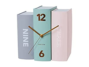Karlsson Book Pastels Table Clock Multi Color Amazon Co