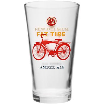 New Belgium Brewery Fat Tire Pint Glass (Brewery Beer Glasses)