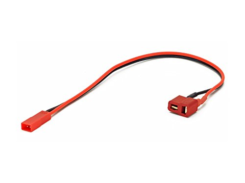 Charger Cable Adapter: Deans T-Plug Female to JST Male, Receiver Pack Plug (Wires Cables Leads Plugs LiPo Battery)