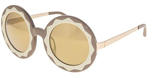 MARKUS LUPFER LINDA FARROW Round Star Caramel Honey Gold Mirrored ML11 - Linda Farrow Sunglasses