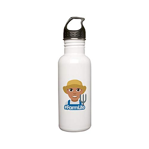 CafePress Emoji Hashtag Farm Lif Stainless Water Bottle 0 St