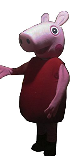 Peppa Pig Mascot Costume Adult Cartoon Character (Peppa Pig Adult Costume)