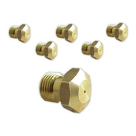 DOJA Industrial | Inyectores Cocina M-8 [kit 6] | Gas Butano Gas ...