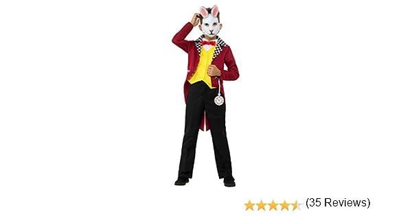 Smiffys 49694L Disfraz de conejo blanco con chaqueta multicolor ...