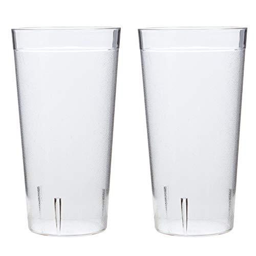 Café Break-Resistant Plastic 32oz Restaurant-Quality Beverage Tumblers | Set of 12 Clear